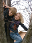 Kenny & Bri up in a tree
